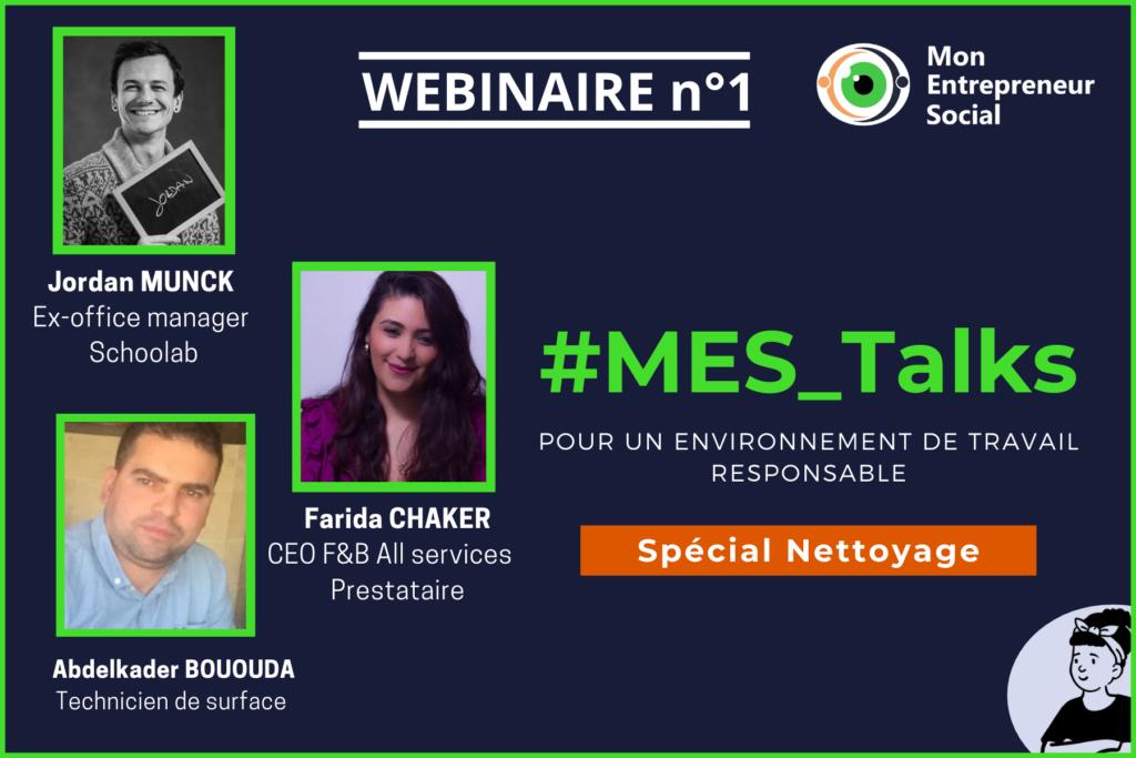 [#MES_Talks] Webinaire n°1 – Quel environnement de travail responsable ? Spécial Nettoyage