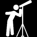telescope blanc